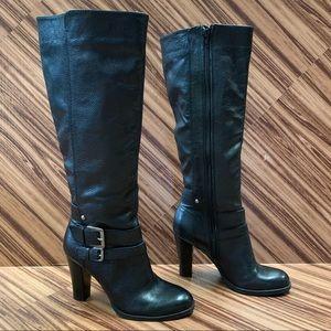 Nine West Habitat Zip 100% Leather Boots, Size 6.5